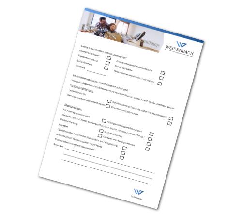 Unsere Checkliste zur Baufinanzierung